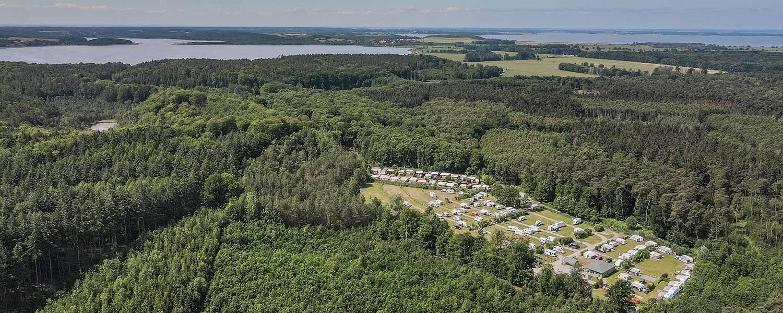 Campingplatz-Luftaufnahme Panorama
