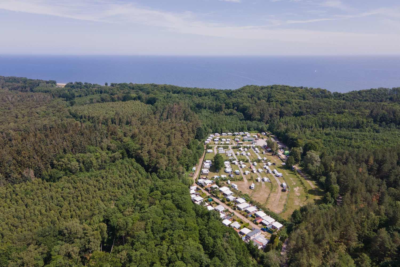 Ostsee Camping Bansin Umgebung Luftaufnahme