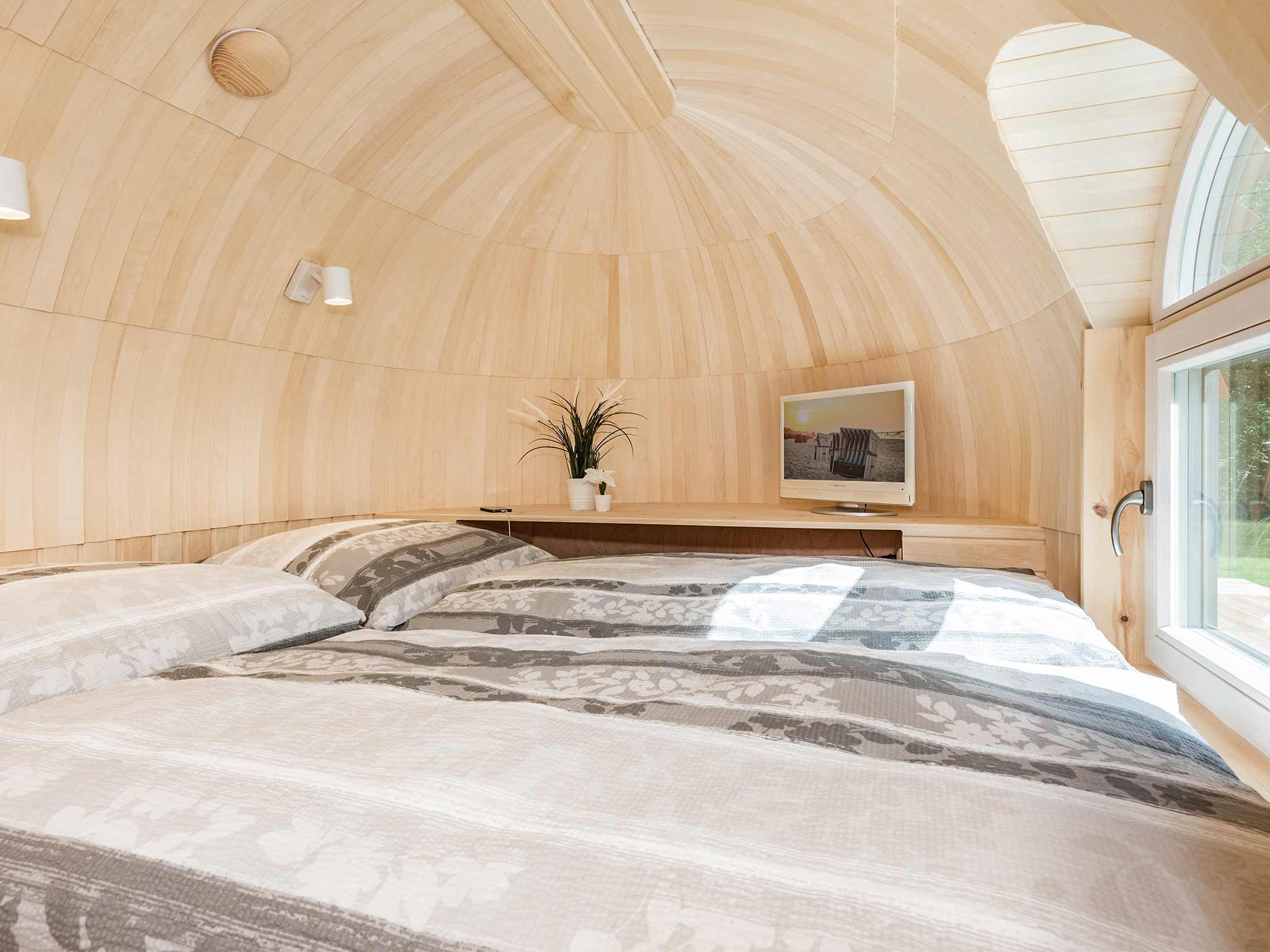 Tiny House Ostsee Usedom Bansin Schlafzimmer