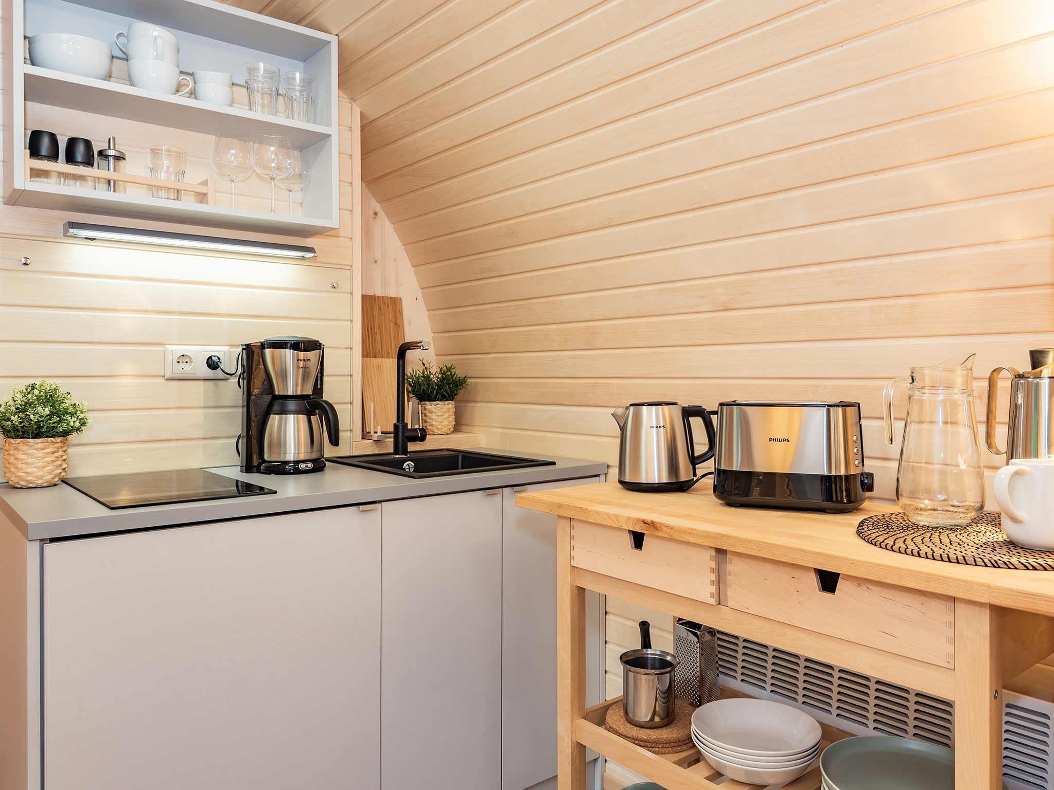 Tiny House Ostsee Usedom Bansin Küchenzeile