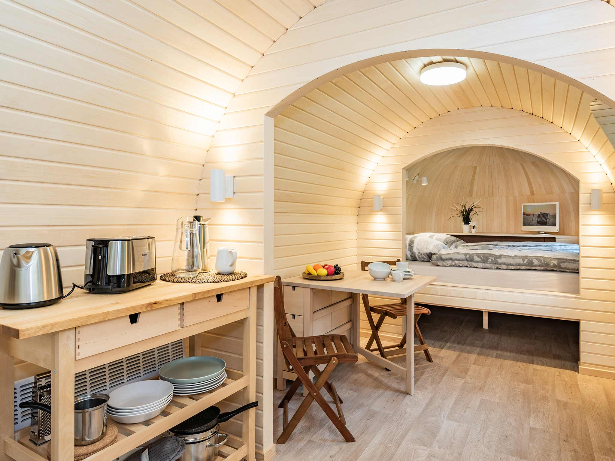 Tiny House Ostsee Usedom Bansin Wohnbereich